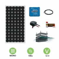 kit solaire camping-car 190W-12V avec fixation